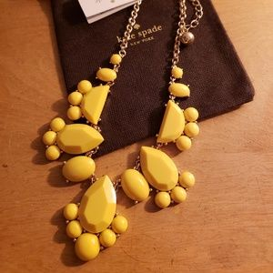 NWT Kate Spade Day Tripper Bib Necklace - Yellow